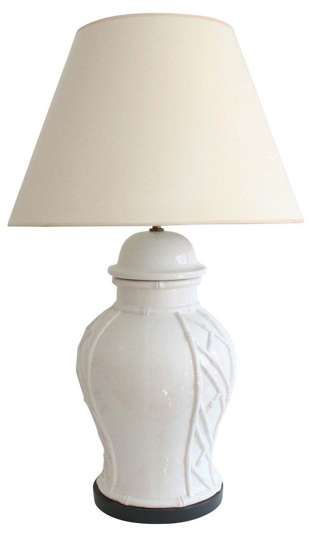 Hollywood Regency Bamboo Lamp