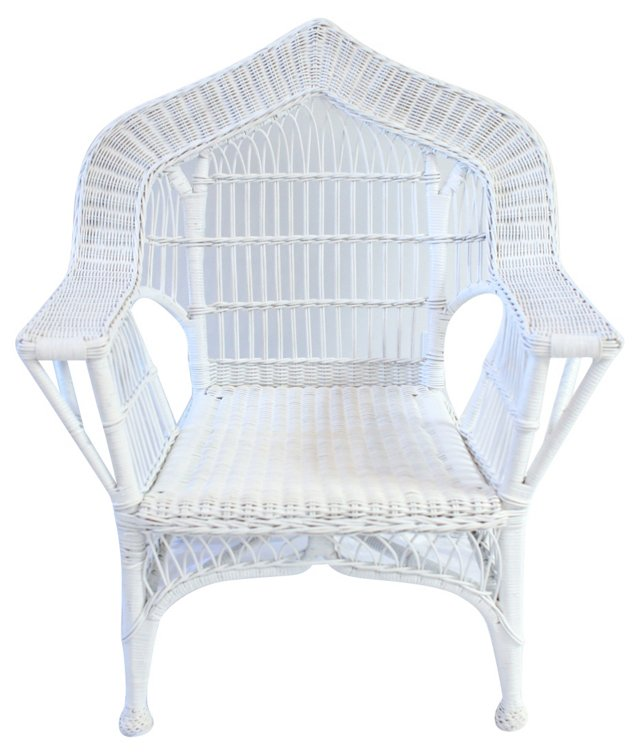 Wicker  Arch-Back Chair