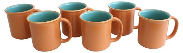 Crown Corning Mugs, Set of 6
