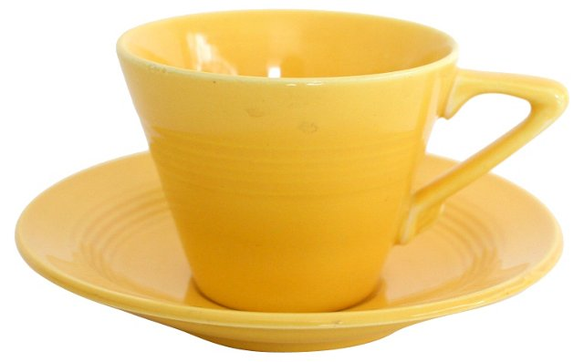 Yellow Cup & Saucer