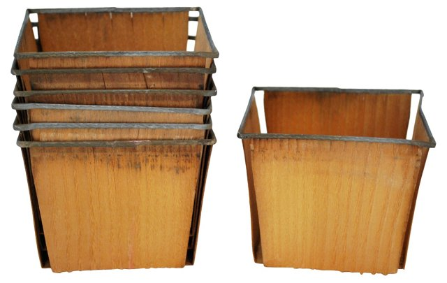 1950s Strawberry Baskets, S/7