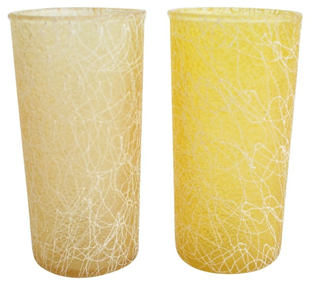 Yellow String Glasses, Pair