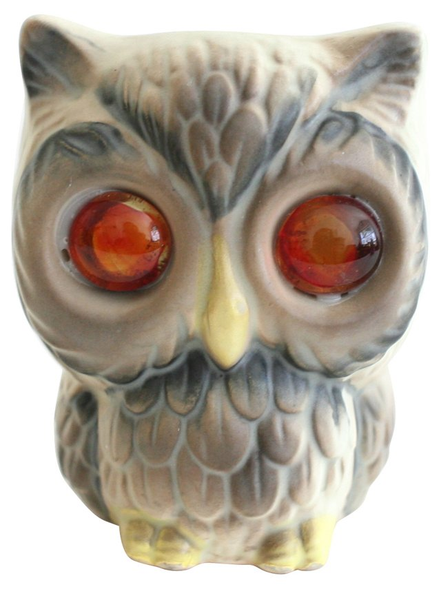 Ceramic Owl Vessel