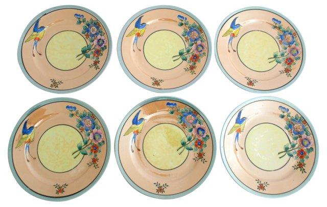 Lusterware Luncheon Plates, S/6