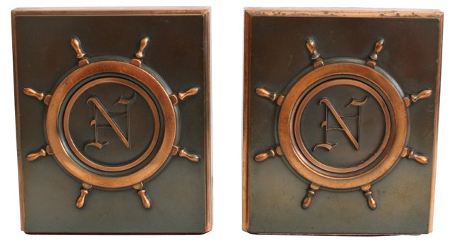 Nautical Copper Bookends