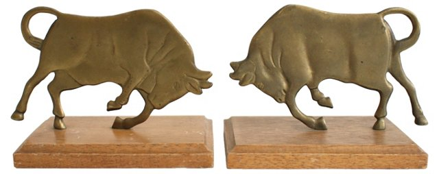 Brass Bull   Bookends