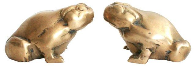 Brass Frogs, Pair