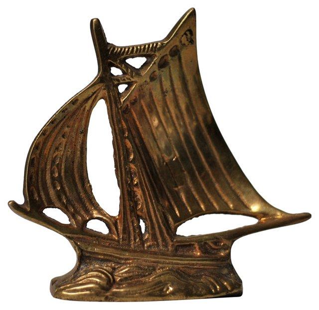 Petite Brass Masted Ship