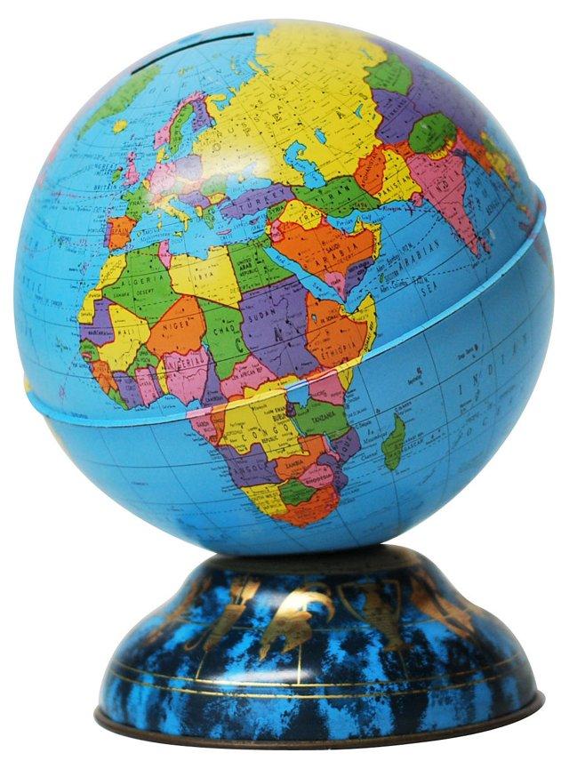 Astrology-Themed Globe Bank
