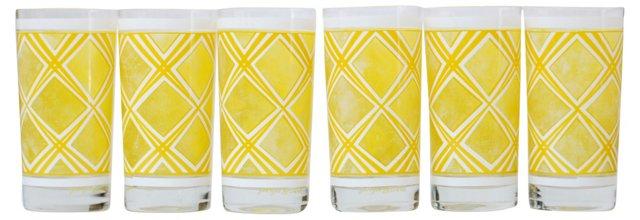 Yellow Briard Glasses, S/6