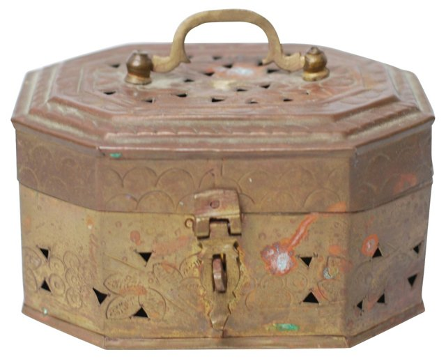 Petite  Brass Cricket Box