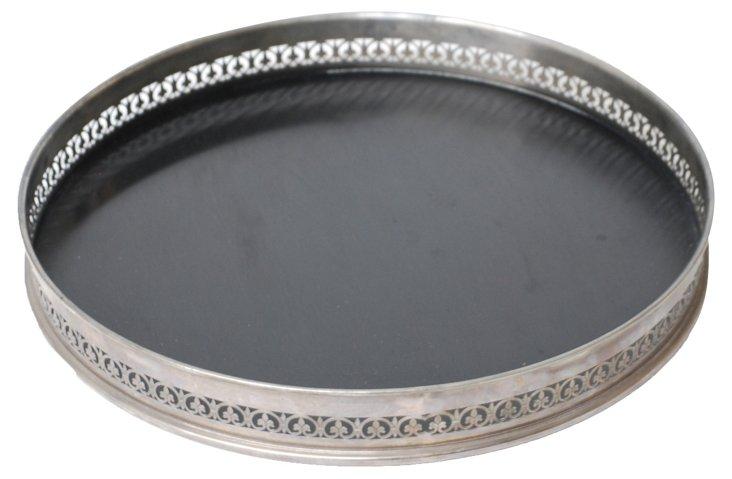 Black & Silver Bar Tray