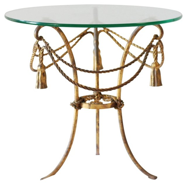 Gilded Tassel-Motif Table