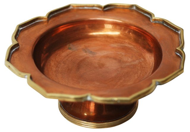 Copper Lotus Flower Catchall