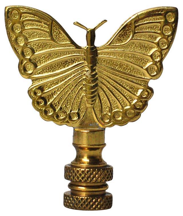 Brass Butterfly Finial
