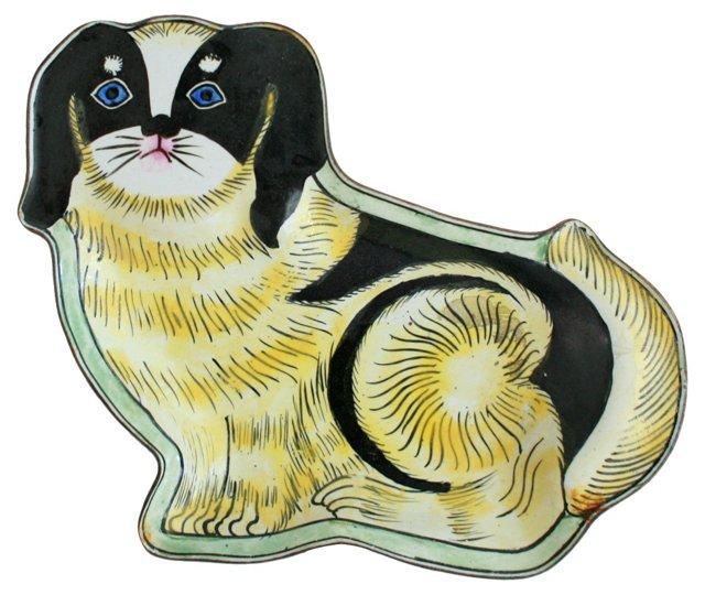 Enamel Dog Ring Dish