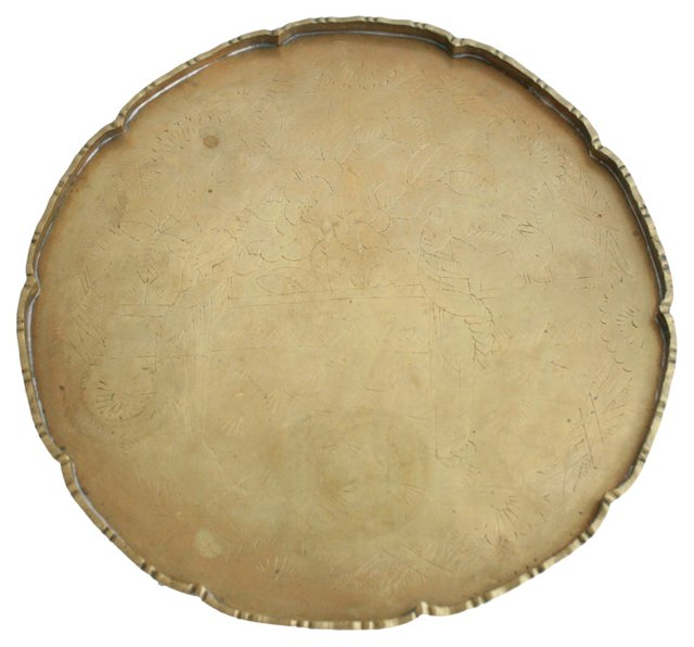 Round  Chinese Brass Tray