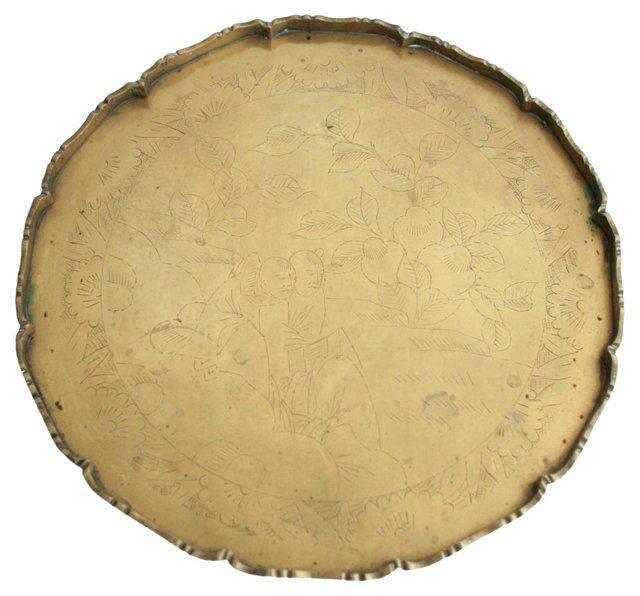 Round   Chinese Brass Tray