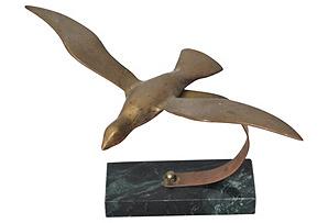 Midcentury Seagull Sculpture