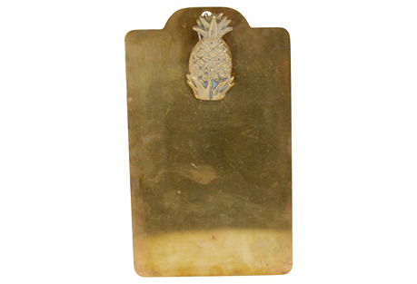 Brass Pineapple Clipboard