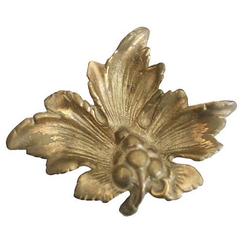 Brass Grape Leaf Catchall