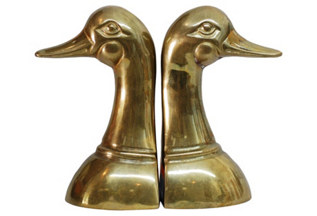 Midcentury Mallard Bookends