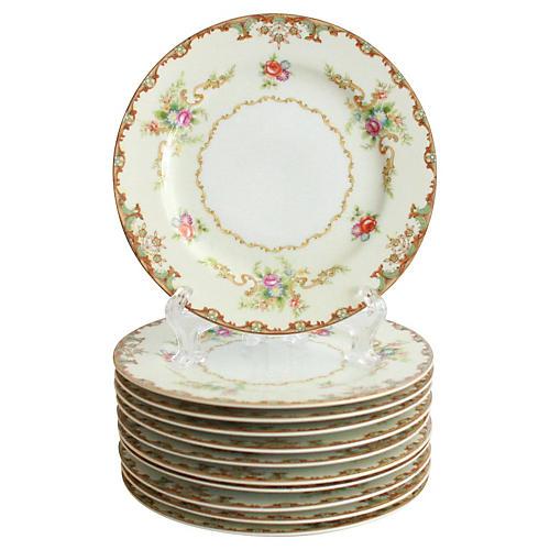 1940s Bread Plates, S/11