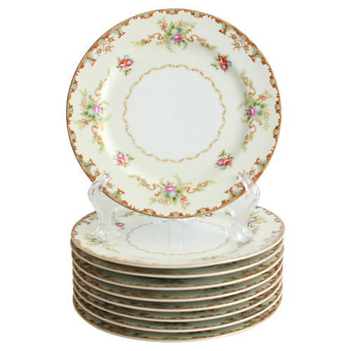 1940s Lunch Plates, S/9