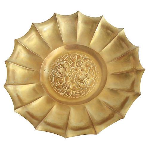 Large Brass Centerpiece Bowl