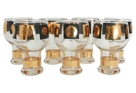 Currency Barware, S/7