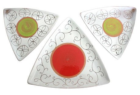 Italian Pottery Dishes, Set of 3