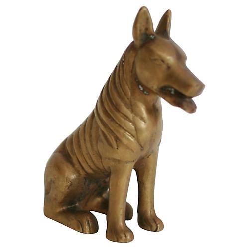 1950s Brass Dog