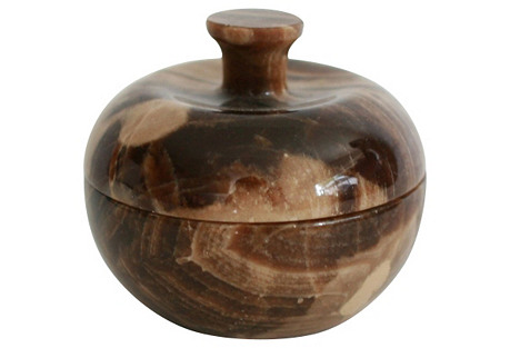 Carved  Stone Trinket Box