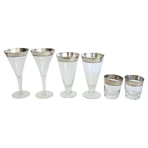 Dorothy Thorpe Glassware, S/6
