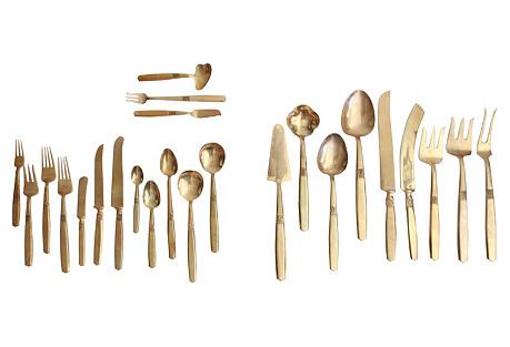 Bronze Flatware & Serveware, Svc for 12