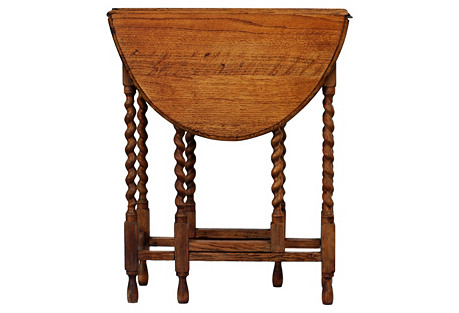 Twisted-Leg Drop-Leaf Table