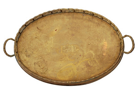 Large Bamboo-Style Gallery Tray