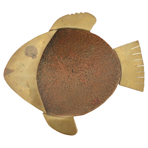 Copper & Brass Fish Catchall