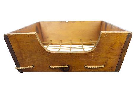 Wood Boat Storage Bin