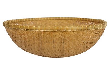 Large Rattan Bowl