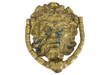 Brass Bacchus Door Knocker