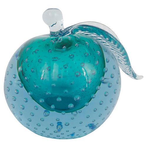 Murano Glass Apple Bookend
