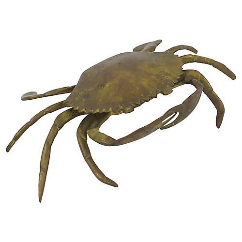 Brass Crab Ashtray