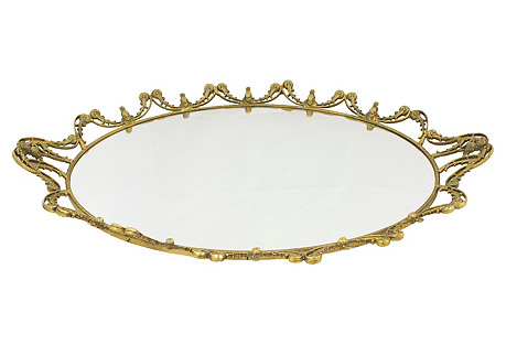 Large Baroque-Style Vanity Tray