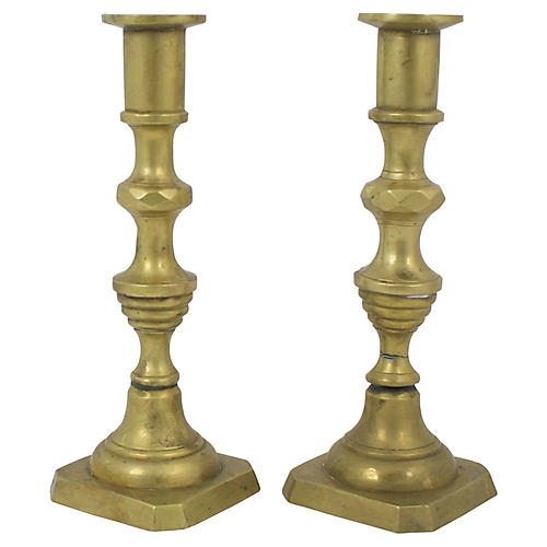 Brass Candlesticks,Pr