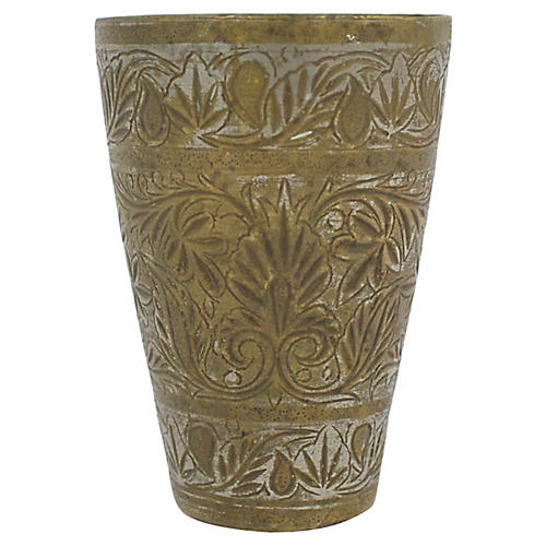 1930s Moroccan Brass Lassi Cup