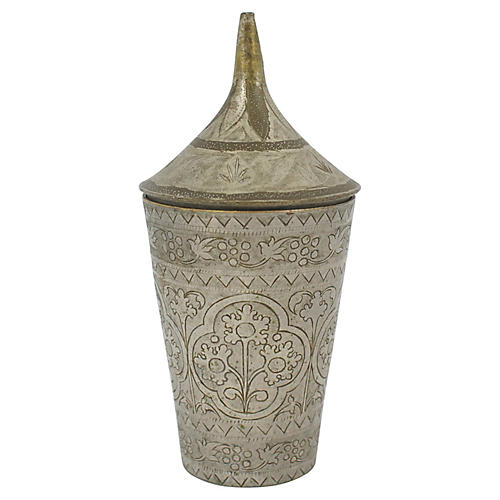 1930s Moroccan Lassi Cup w/ Lid