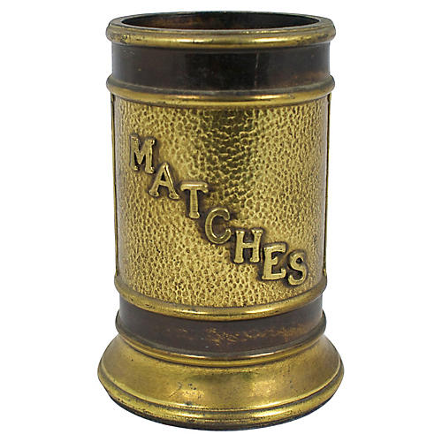 Large 1960s Match Holder