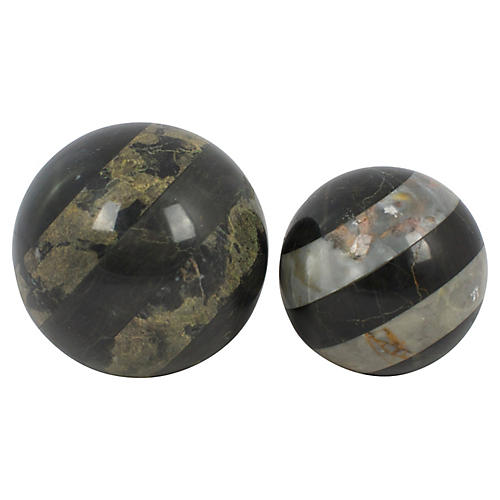 Marble Spheres, Pair