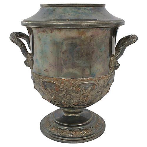 English Silverplate Champagne Bucket